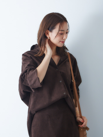 Rouge vif la cle - 【BAILAコラボ】コーデュロイオーバーシャツ