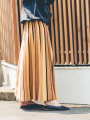 Rouge vif la cle - ストライプニットスカート【予約】