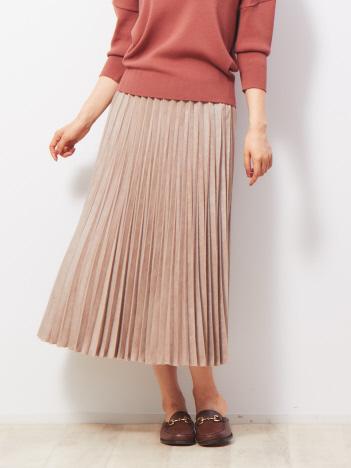 Rouge vif la cle - スエードプリーツスカート