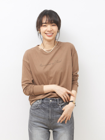 Rouge vif la cle - 【MICA&DEAL】WEB限定ロゴプリントロングTシャツ