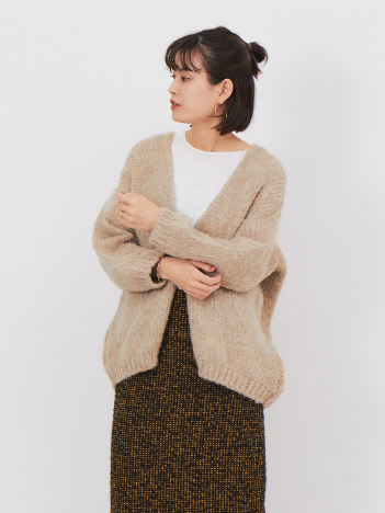 OUTLET (Ladie's) - 【Tricot Jean Marc】モヘア混カーディガン