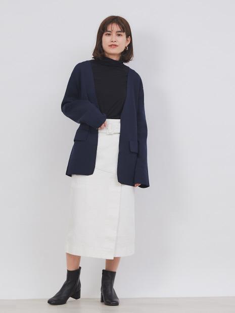 【CURRENTAGE】ニットジャケット