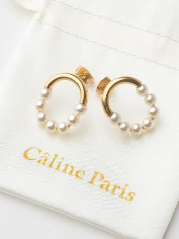 Caline Paris パールサークルピアス