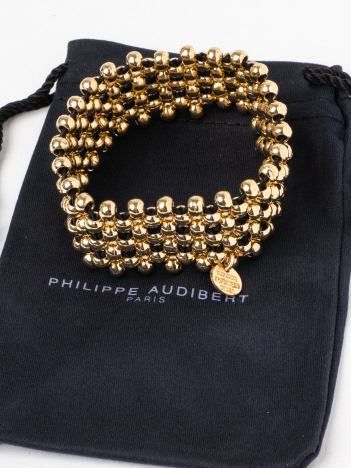 Rouge vif la cle - PHILIPPE AUDIBERT Max cuffブレス(ゴールド)