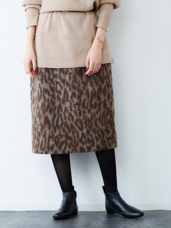 Rouge vif la cle - 【MICA&DEAL(マイカ&ディール)】レオパードタイトスカート