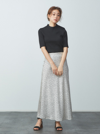 ダルメシアン柄マーメイドロングスカート