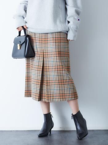 Rouge vif la cle - BALLIチェックボックスタックスカート【予約】