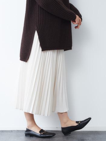 ドビーシャンブレープリーツスカート
