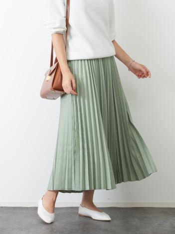 Rouge vif la cle - ドビーシャンブレープリーツスカート【予約】