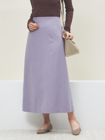 Rouge vif la cle - ウール混セミフレアスカート