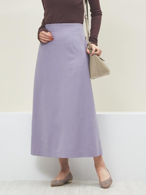 ウール混セミフレアスカート