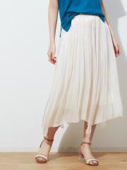 Rouge vif la cle - サテンギャザーイレギュラーヘムスカート【予約】