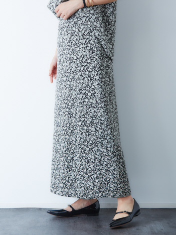 Rouge vif la cle - フラワープリントマキシスカート