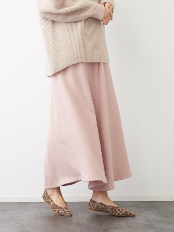 Rouge vif la cle - アンティークジョーゼットスカート