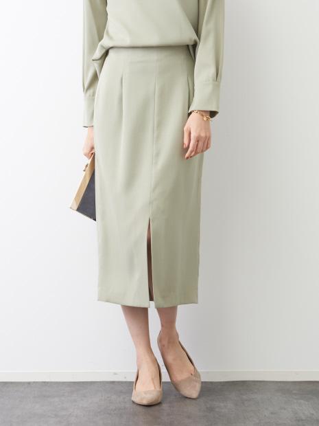 スエードタッチタイトスカート