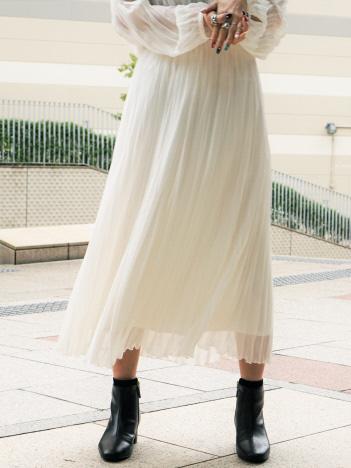 シワプリーツスカート