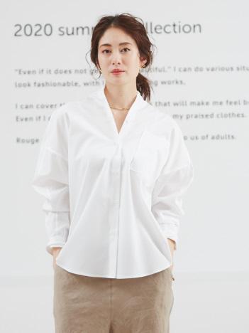 Rouge vif la cle - ビックポケットオーバーシャツ2