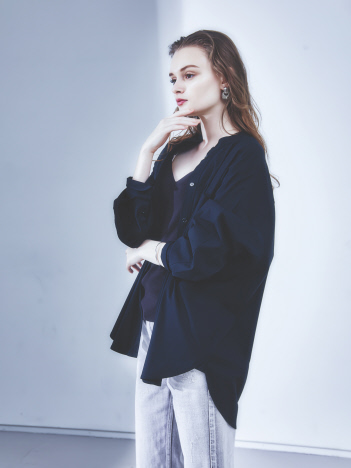 Rouge vif la cle - 【東原妙子さんコラボ】ビッグポケットオーバーシャツ