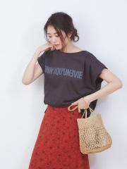 ダブルタックプリントTシャツ