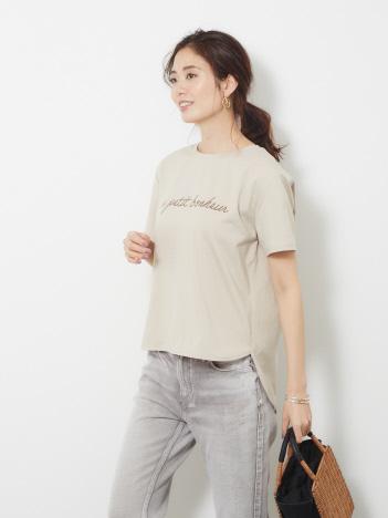 シャツヘムプリントTシャツ