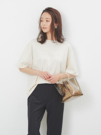 オーバーサイズロゴTシャツ2