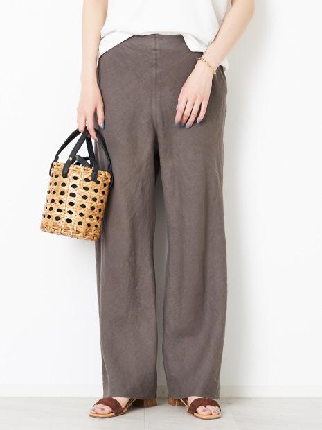 麻製品染パンツ【予約】
