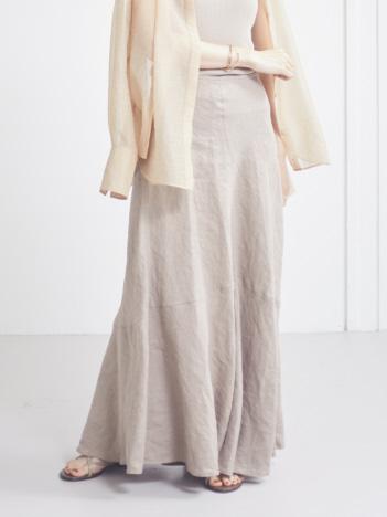 Rouge vif la cle - 麻製品染マキシスカート【予約】