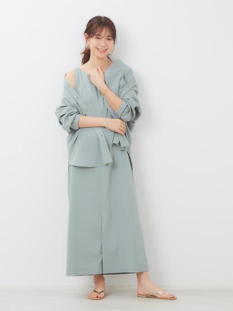 【東原妙子さんコラボ】レーヨンリネン2WAYロングワンピース
