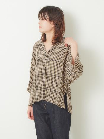 OUTLET (Ladie's) - TICCA オープンカラーシャツ