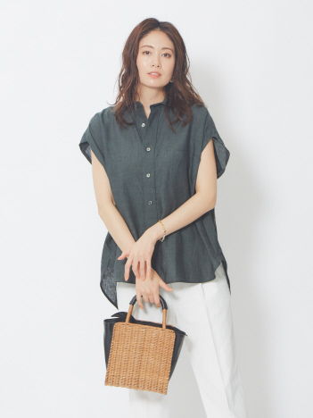 TICCA バックレースアップフレンチシャツ