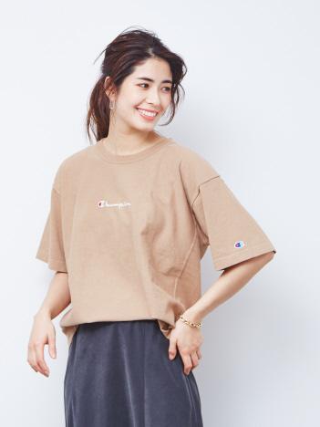 Rouge vif la cle - 【Champion/チャンピオン】リバースウィーブロゴ刺繍Tシャツ