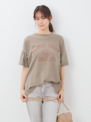 【REMI RELIEF/レミレリーフ】別注ロゴプリントTシャツ