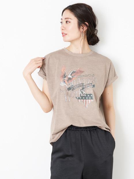 【MICA&DEAL】WEB限定イーグルロックプリントTシャツ【予約】