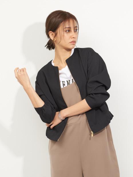 【MICA&DEAL】WEB限定ノーカラーブルゾン