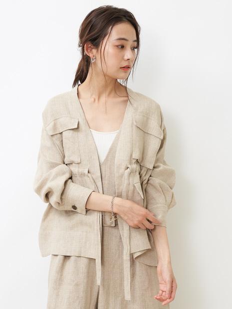 【CURRENTAGE】 リネンライトジャケット