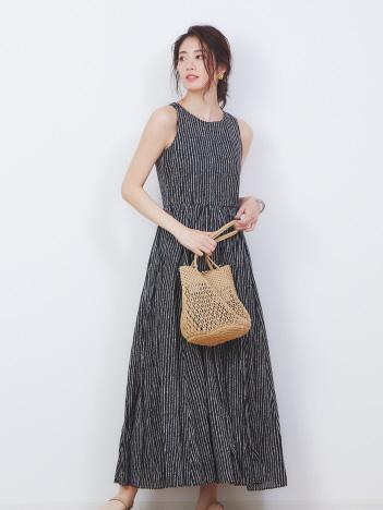 Rouge vif la cle - 【MARIHA】別注ドット柄 夏のレディスのドレス【予約】