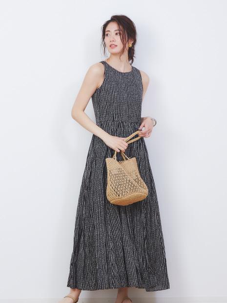 【MARIHA】別注ドット柄 夏のレディスのドレス