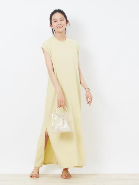 【CURRENTAGE】ストレートロングドレス