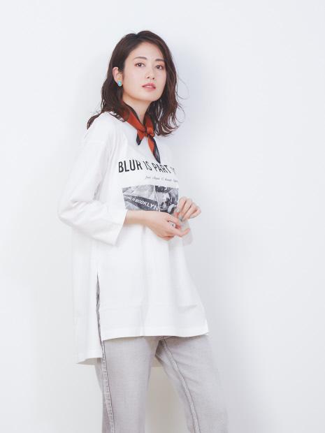 《WEB限定》フォトプリントビッグTシャツ