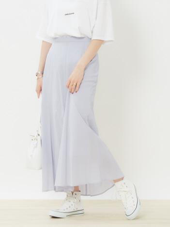 スラブ楊柳フレアスカート