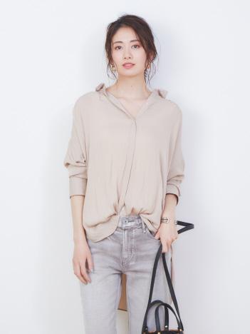 ロングとろみシャツ