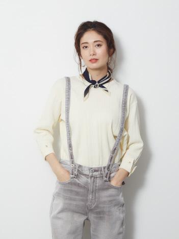 Rouge vif la cle - ストレッチランダムリブニット【予約】