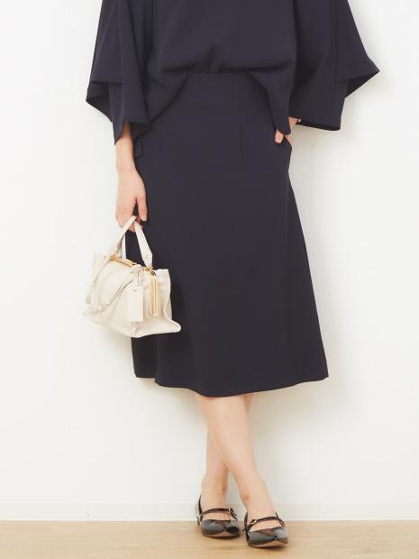 【マザーニーズ】【オケージョン】ダブルクロスセミフレアスカート