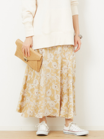 Rouge vif la cle - サラサフラワーマキシスカート