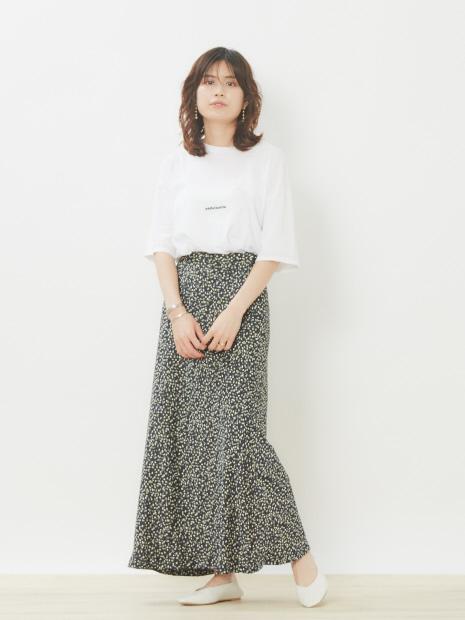 カラードットマーメイドスカート【予約】