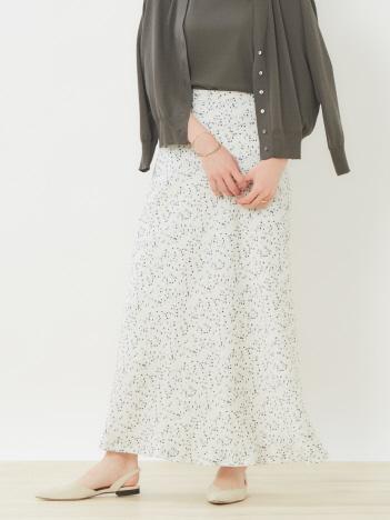 カラードットマーメイドスカート