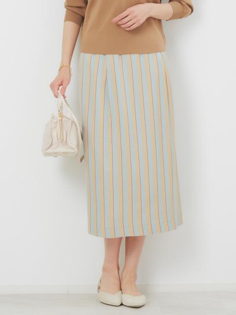 RIOPELEストライプタイトスカート