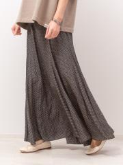 変形ドットロングスカート