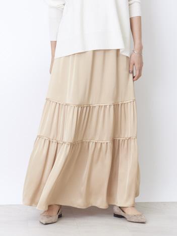 Rouge vif la cle - 切り替えギャザースカート