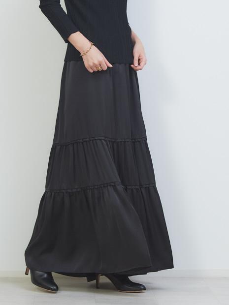 切り替えギャザースカート